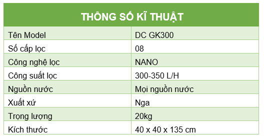 Thong so ki thuat DC GK300